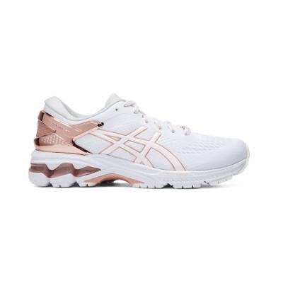 ASICS GEL-KAYANO 26 PLATINUM 跑鞋 女(白/金)
