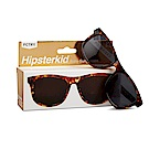 美國Hipsterkid 抗UV偏光奢華嬰幼兒童太陽眼鏡(附固定繩) - 玳瑁