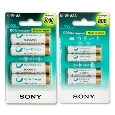 SONY低自放充電電池組(3號2000mAh+4號800mAh各4顆)
