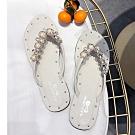 KEITH-WILL時尚鞋館 自然步調珍珠沙灘拖鞋-米色