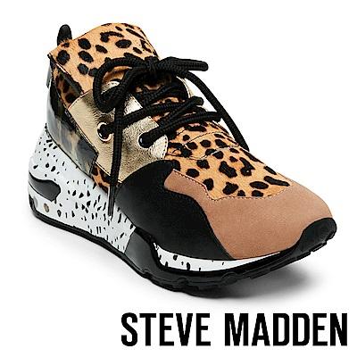 STEVE MADDEN-CLIFF 潮流款拼接時尚老爹鞋-豹紋