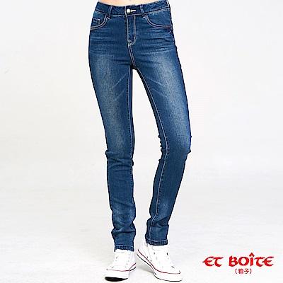 ETBOITE 箱子 BLUE WAY 繩股帶花高腰直筒褲
