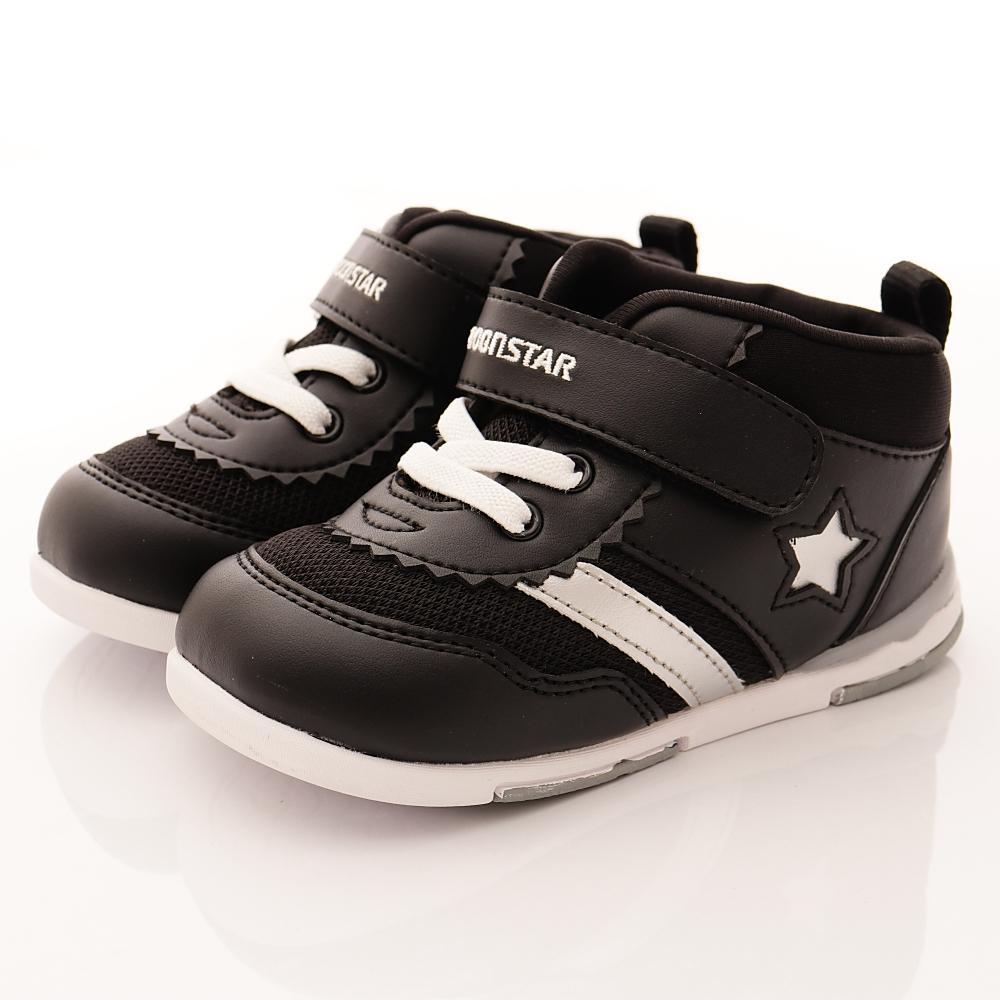 零碼13.5cm-日本Carrot機能童鞋 HI系列鞋款 B956黑