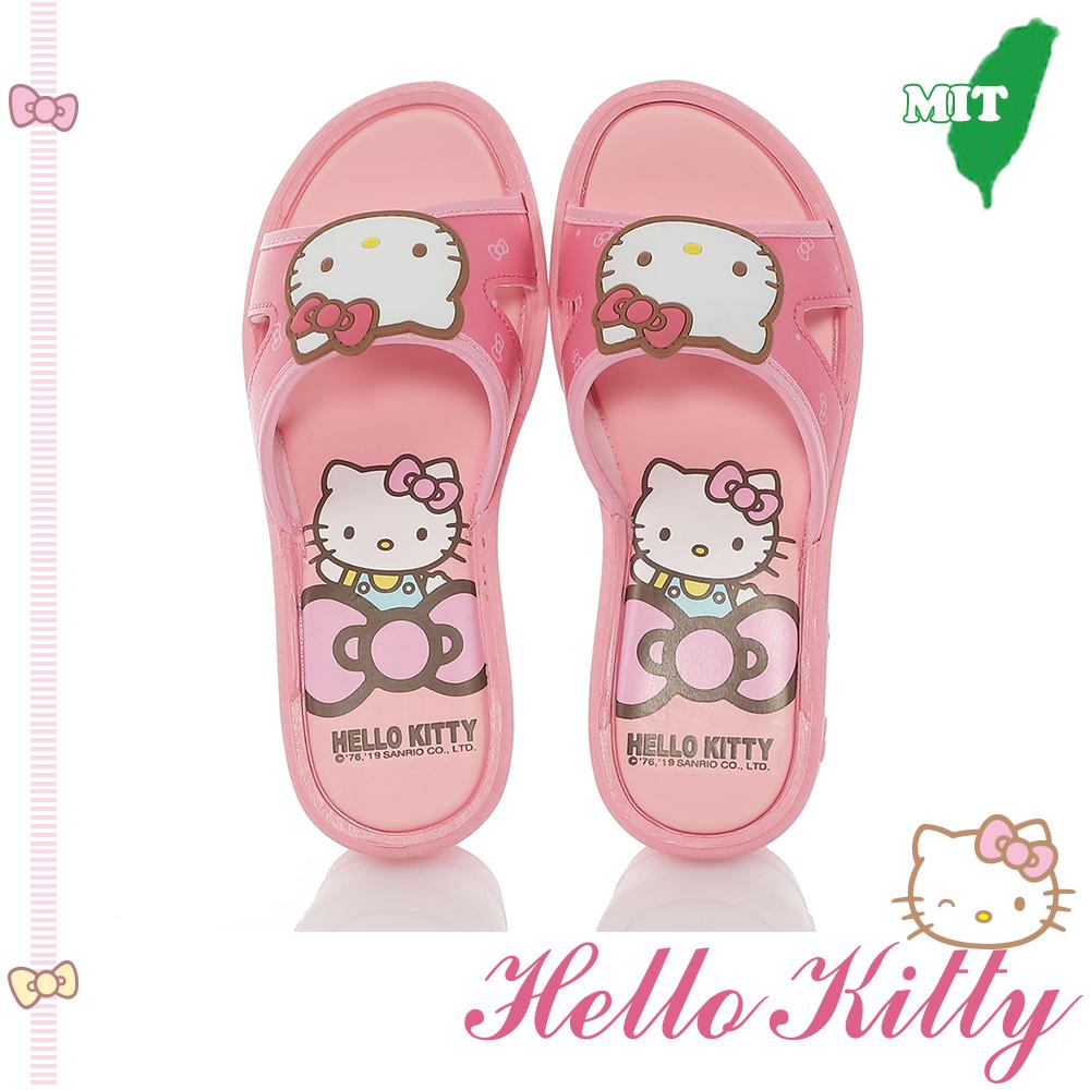HelloKitty童鞋 甜心輕量休閒拖鞋-桃