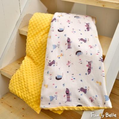 義大利Fancy Belle 森林派對 雙層紗防蹣抗菌吸濕排汗兒童兩用豆豆毯
