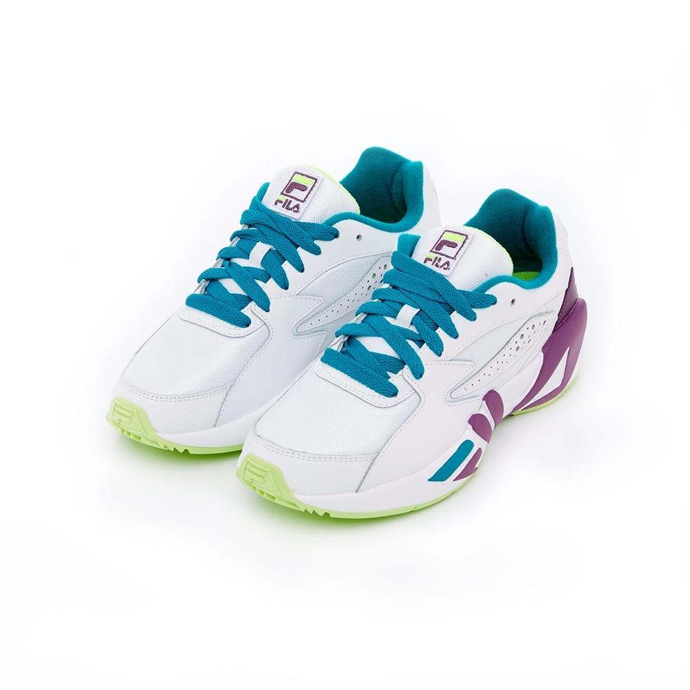 FILA MINDBLOWER 男運動鞋-白/綠 1-J527T-144