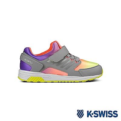 K-Swiss SI-18 Trainer休閒運動鞋-童-霓虹漸層/銀灰