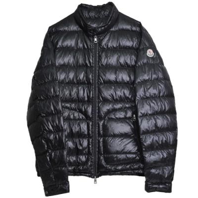 MONCLER ACORUS 品牌經典羽絨車縫黑色羽絨外套(5號/男款)
