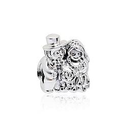 Pandora 潘朵拉 新郎新娘 純銀墜飾 串珠