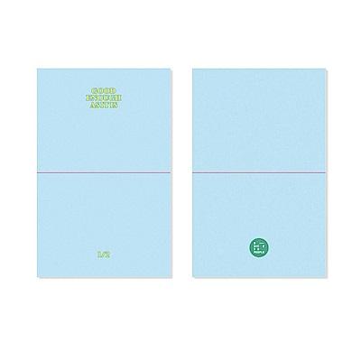 BNTP 書籤筆記本L-上下對分頁-天藍