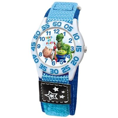 DISNEY迪士尼 Toy Story玩具總動員休閒織帶手錶 三眼怪 火腿 暴暴龍
