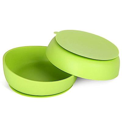 韓國UYOU 兒童矽膠防滑餐碗-蘋果綠