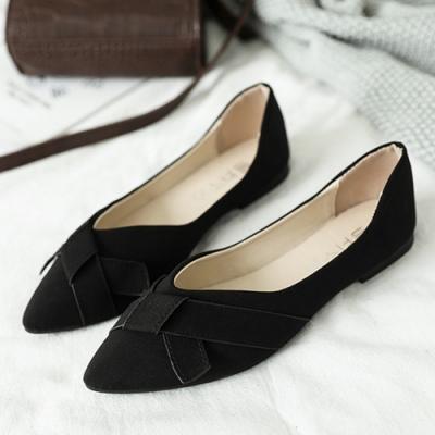 KEITH-WILL時尚鞋館 搶鮮購春光明媚尖頭鞋-黑