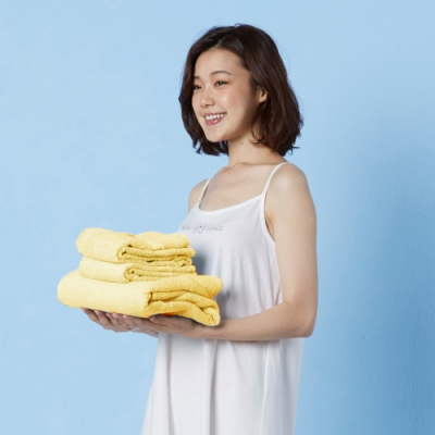 Yvonne Collection 長毛巾+大浴巾- 黃