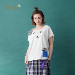 【Dailo】MIT製 狗條紋屋棉質-上衣(三色)
