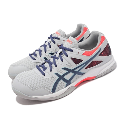 Asics 排球鞋 GEL-Task 2 運動 男鞋 亞瑟士 緩衝 避震 包覆 穩定 亞瑟膠 灰 紅 1071A037960