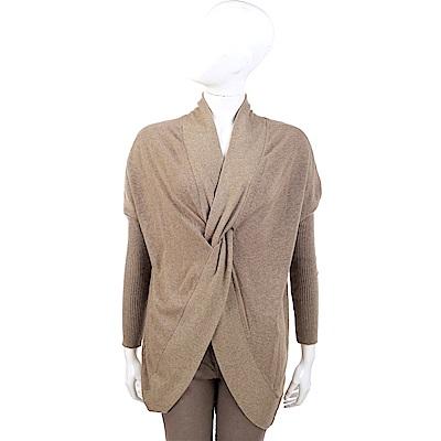 SCERVINO 前交叉設計咖棕色針織羊毛衫