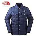 The North Face北面男款藍色保暖羽絨外套 3L73H2G