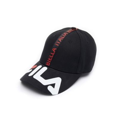 FILA 時尚LOGO帽-黑 HTU-1103-BK