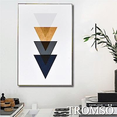 TROMSO 北歐風尚板畫有框畫-北歐時尚三角WA85