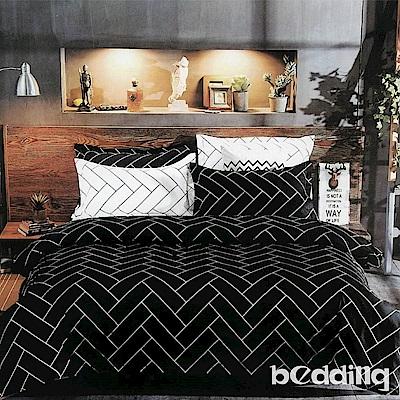 BEDDING-活性印染雙人鋪棉床包兩用被套四件組-哈羅茲