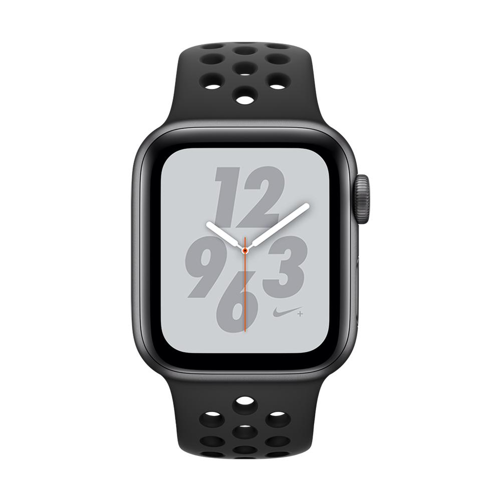 [無卡分期-12期] Apple Watch Nike+ S4 40mm灰鋁錶殼搭黑色錶帶