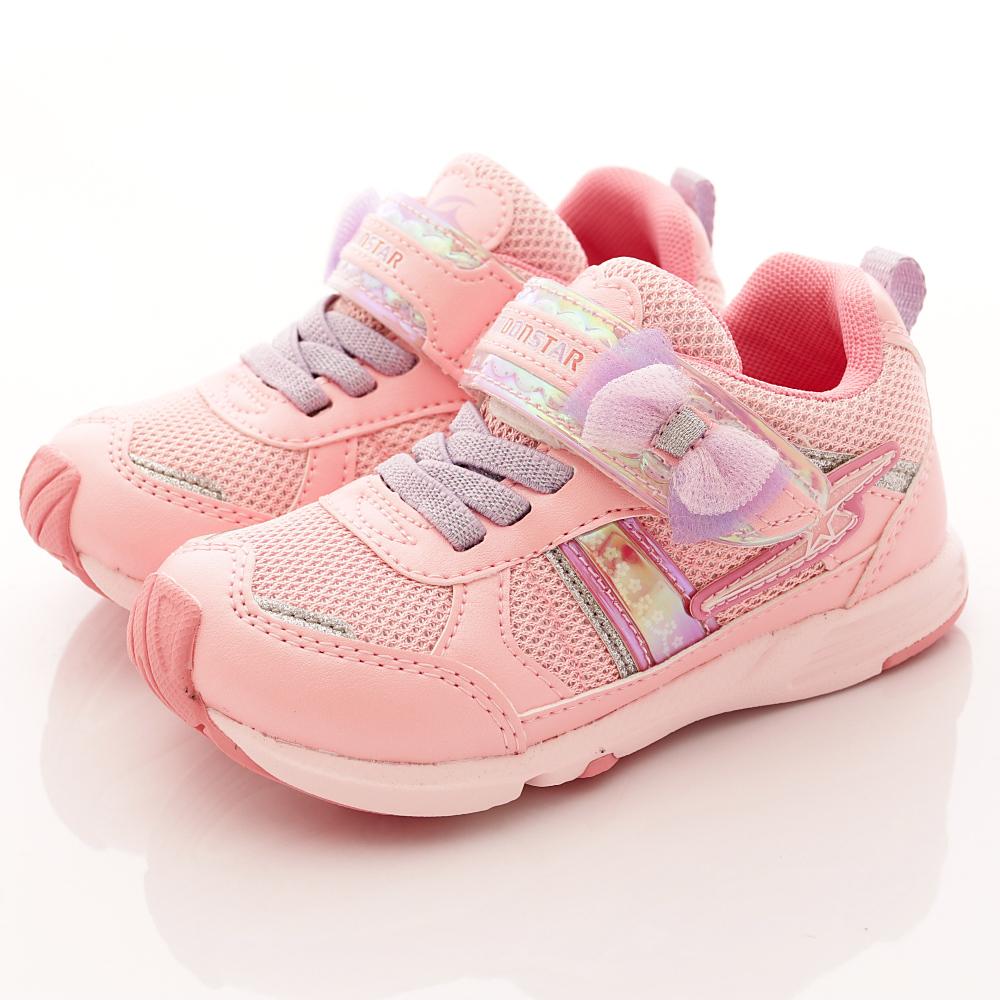 日本月星頂級競速童鞋 2E耐磨運動鞋系列 SE674粉紅(中小童段)