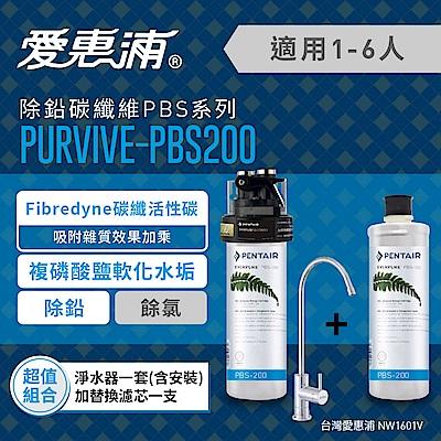 EVERPURE愛惠浦 PURVIVE-PBS200超值組(內含淨水器1套+替換濾芯1支)