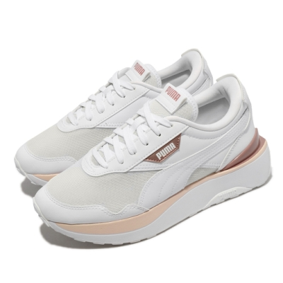 Puma 休閒鞋 Cruise Rider 厚底 女鞋 基本款 微增高 修飾腿型 穿搭推薦 白 粉 37486501