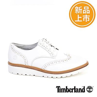 Timberland 女款白色皮革Ellis street淺口鞋