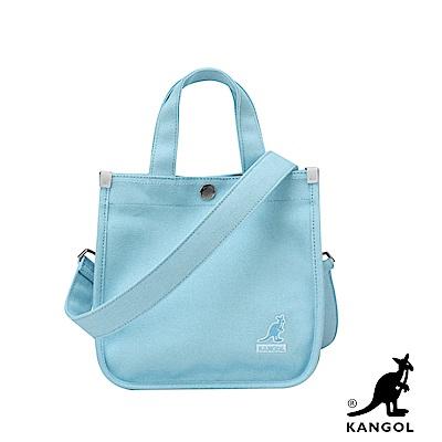 福利品KANGOL 韓版極簡玩色-MINI帆布斜背小方包-淺藍