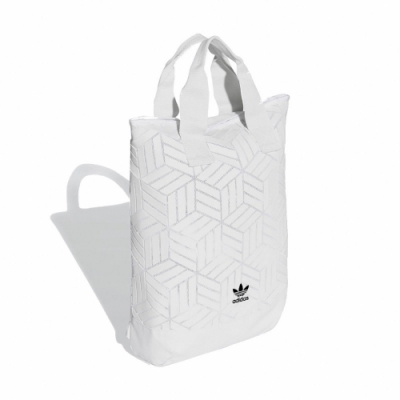 adidas 後背包 Roll Top 3D BKPK 男女款 愛迪達 三葉草 立體格紋 三宅一生 流行 白 黑 DV0201