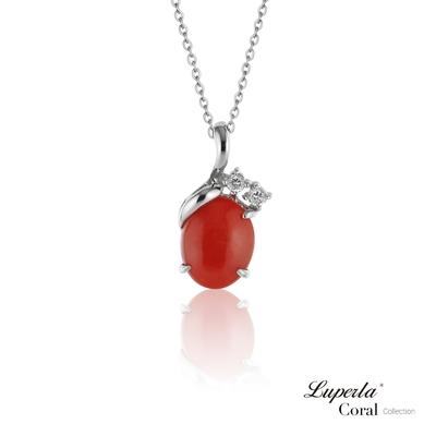 大東山珠寶 鴻運珊瑚 設計經典款 沙丁全紅珊瑚項鍊 925銀