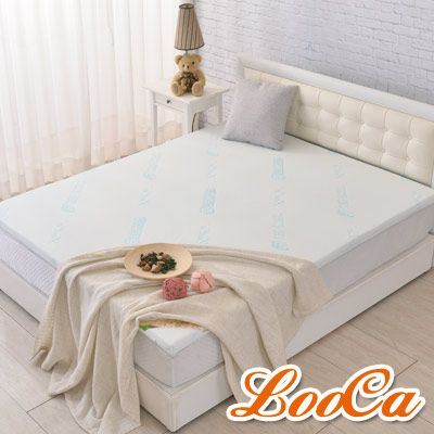 LooCa 水漾天絲5cm天然乳膠床墊-單人3尺