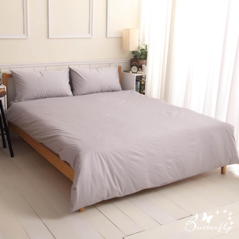 BUTTERFLY-SGS專業級認證抗菌高透氣防水保潔墊-雙人床包-灰色