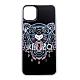 KENZO 3D立體彩繪虎頭灰色英文字母  I PHONE 11 Pro Max 軟膠手機殼 (黑色) product thumbnail 1