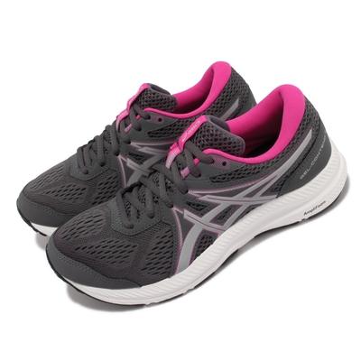 Asics 慢跑鞋 GEL Contend 7 運動 女鞋 亞瑟士 路跑 緩震 輕量 透氣 亞瑟膠 灰 白 1012A911025