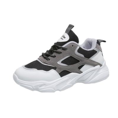 KEITH-WILL時尚鞋館 品牌時尚潮異國材質透氣老爹鞋-黑