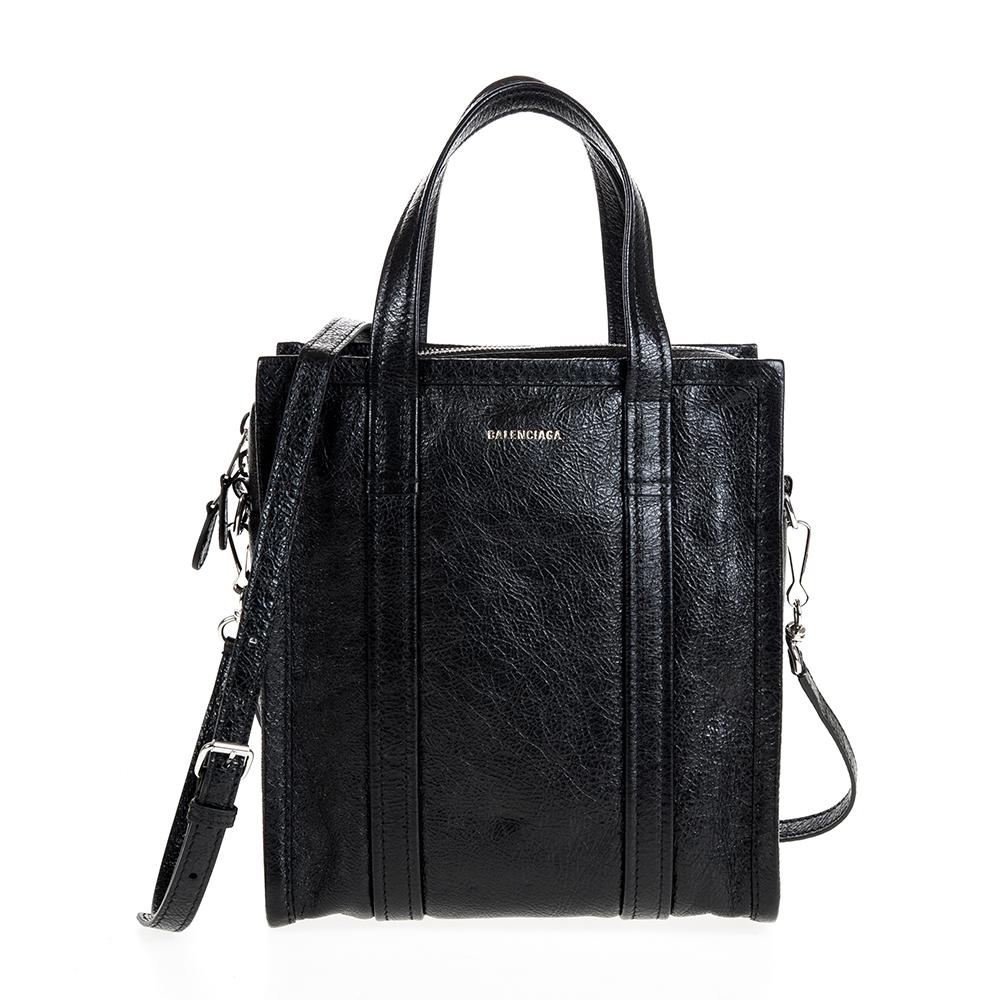 BALENCIAGA 新款BAZAR SHOPPER XS羊皮手提/斜背包 (黑色)BALENCIAGA