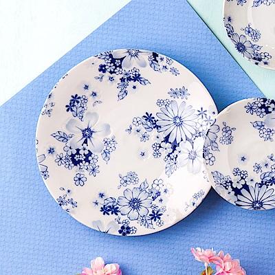 Royal Duke 日本製 8 吋圓盤-花集(藍色花朵)