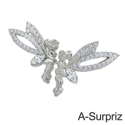 A-Surpriz 小精靈天使晶鑽耳環