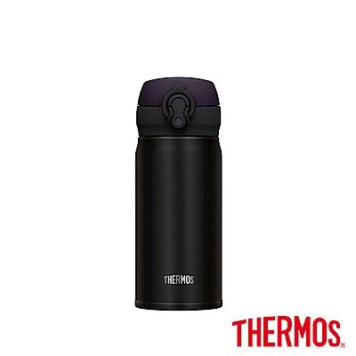 THERMOS 膳魔師超輕量不鏽鋼真空保溫瓶0.35L(JNL-352)-ALB經典黑