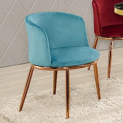 Boden-迪斯塔質感絨布面餐椅/單椅(三色可選)-57x58x73cm