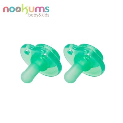 Nookums 美國 仿母乳實感型矽膠奶嘴(2入組) - 綠色
