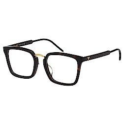VEDI VERO 造型感方框 光學眼鏡 (琥珀配金)
