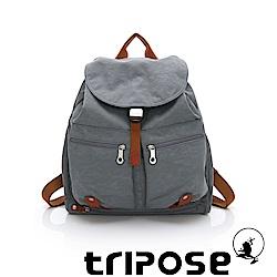 tripose MEMENTO系列微皺尼龍輕量防潑水後背包-大(灰)