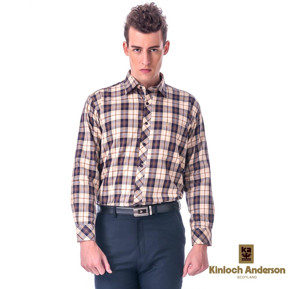 金‧安德森 經典大格紋保暖刷毛長袖襯衫