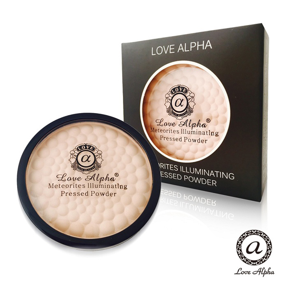 Love Alpha 二合一雙色蘋果光幻彩腮紅蜜粉餅-1盒(款式任選)