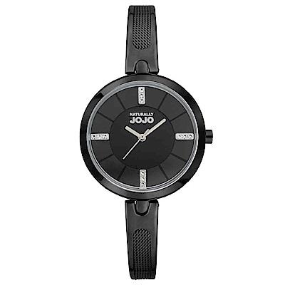 NATURALLY JOJO 幸福雙重奏腕錶-黑/30mm