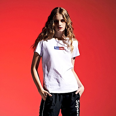 CACO-雙色電繡短T-情侶款(兩色)-女【RDC012】